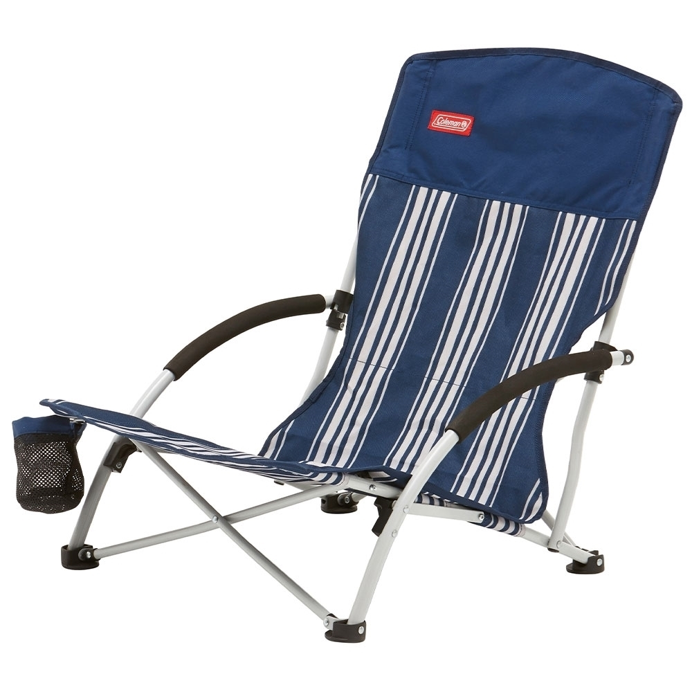 Coleman Low Sling Quad Beach Chair - Mesh cup holder