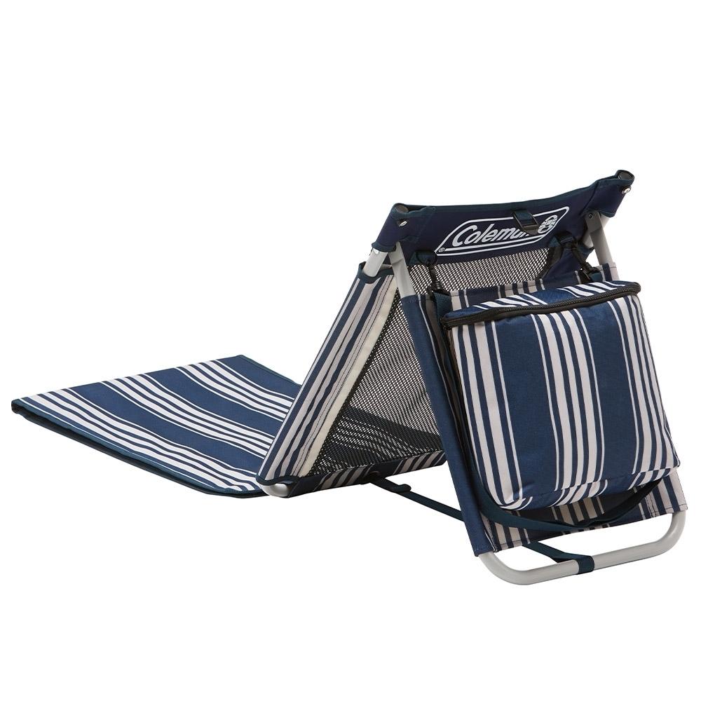 Coleman Beach Mat - Insulated cooler on the backrest