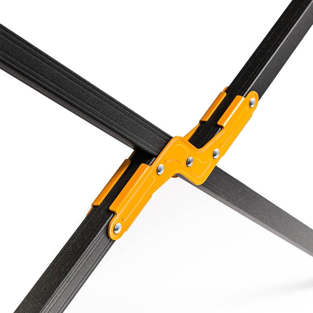 Oztrail Aluminium Stretcher Jumbo Padded - Strong 25mm square tube kinetic hardened aluminium frame
