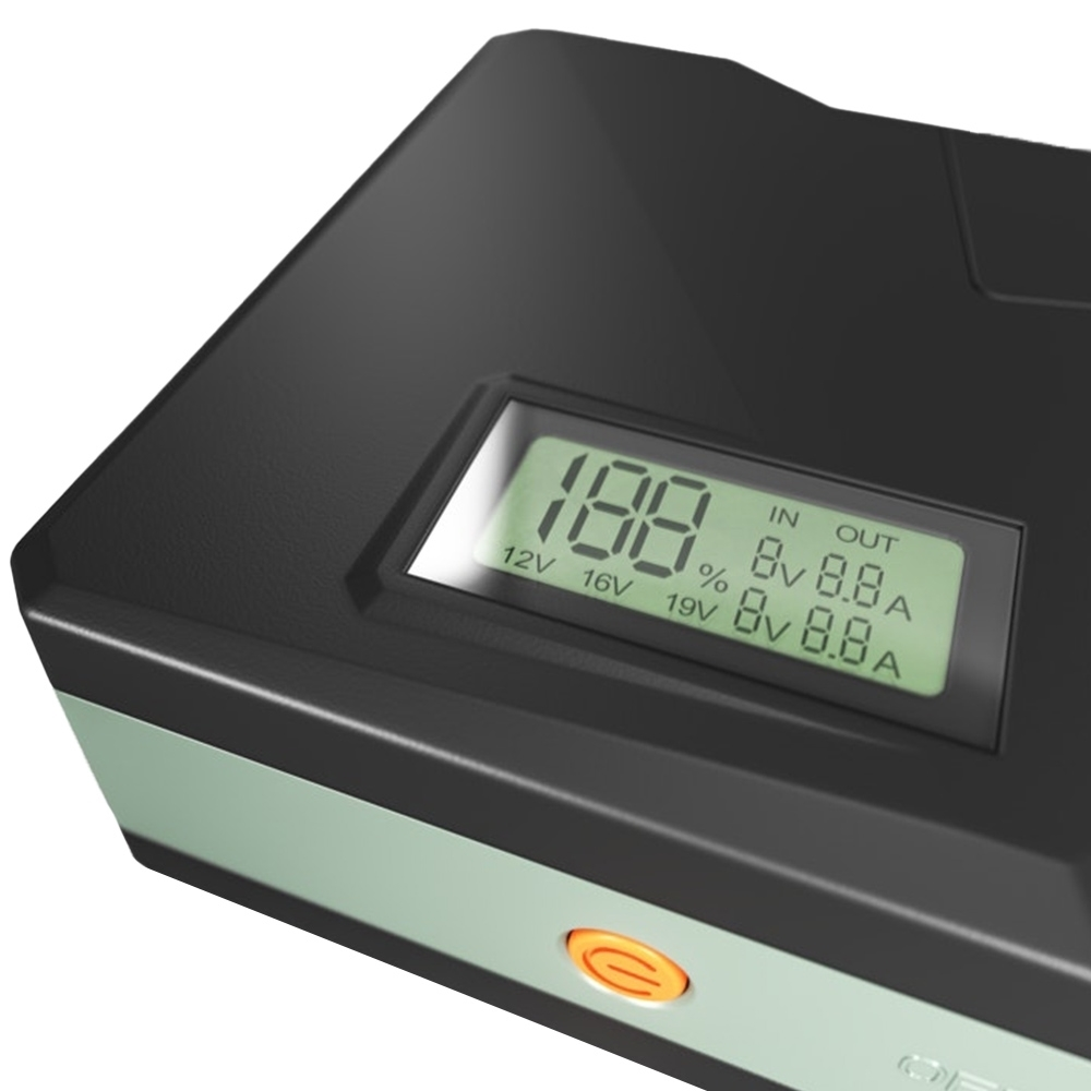 Dometic Portable Jump Starter 900A - LCD screen displays status of charge and voltage indicator