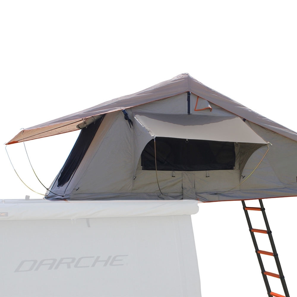 Darche Panorama 1400 Rooftop Tent - Adjustable tropical fly helps prevent condensation and ensures airflow