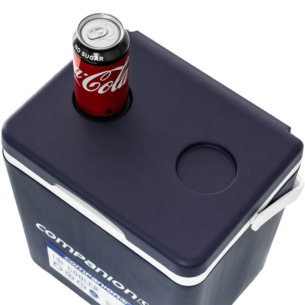 Companion Hard Cooler 14L - Two integrated cup holders