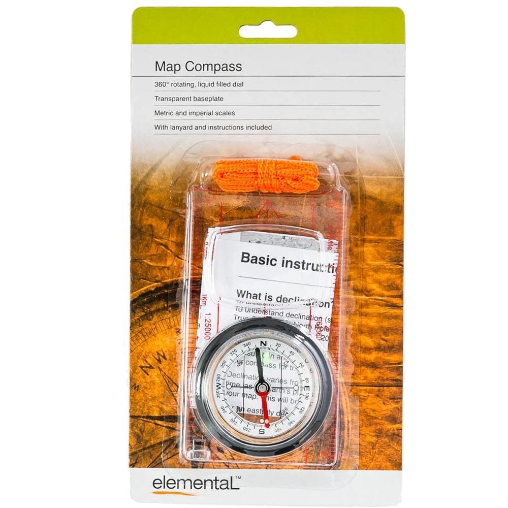 Elemental Orienteering Map Compass - Packaging