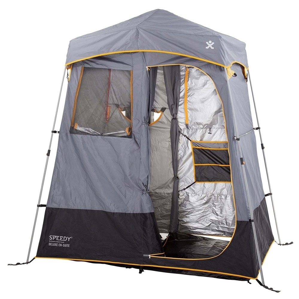 Explore Planet Earth Speedy Deluxe En-Suite Tent - Twin rooms with inbuilt divider – shower and change areas