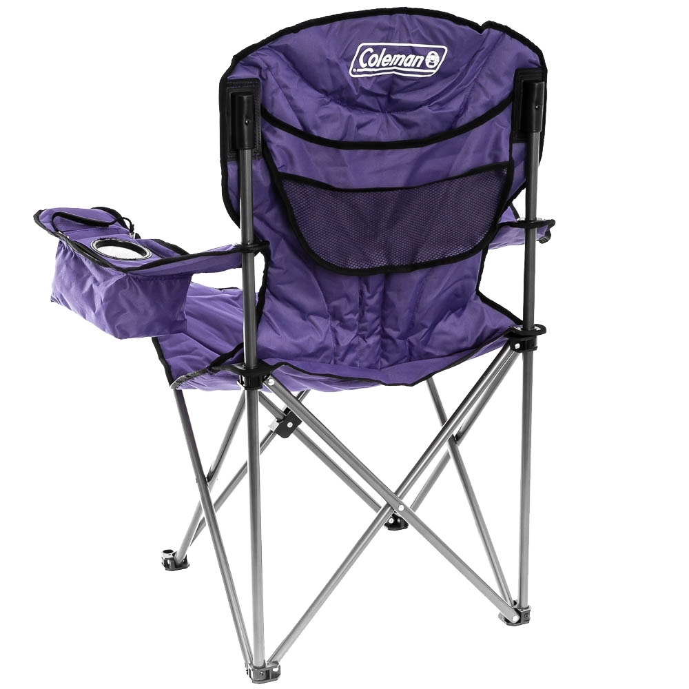 Coleman Queen Cooler Arm Chair - Rear mesh pocket for storage
