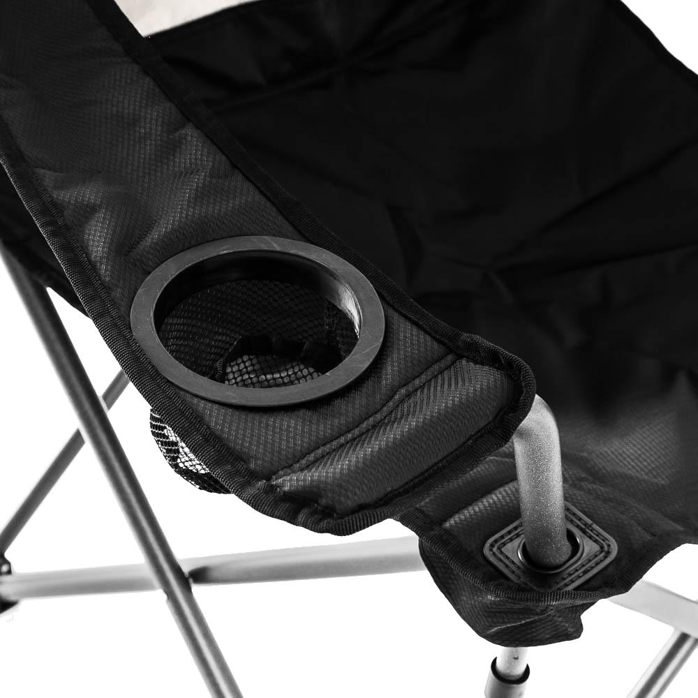 OZtrail Duralite Quad Chair - Mesh drink holder