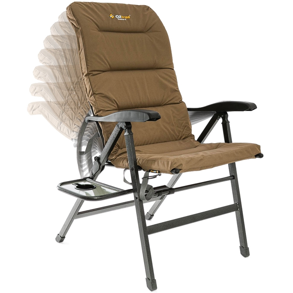 OZtrail Emperor 8 Position Recliner Chair - 8 reclining positions
