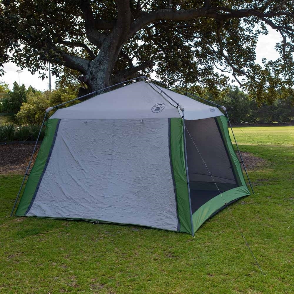Coleman Instant Up Screen House 3.2 x 3.2 - Awnings double as sun walls