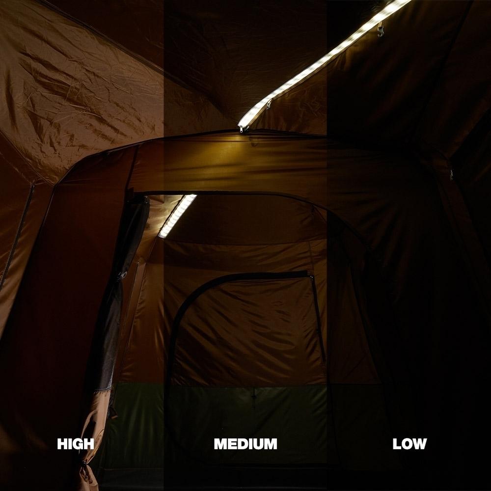 Coleman Instant Up 8P Lighted Northstar Darkroom Tent - LED strip lighting