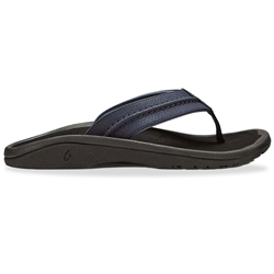 Olukai Hokua Men's Thong Blue Depth Black