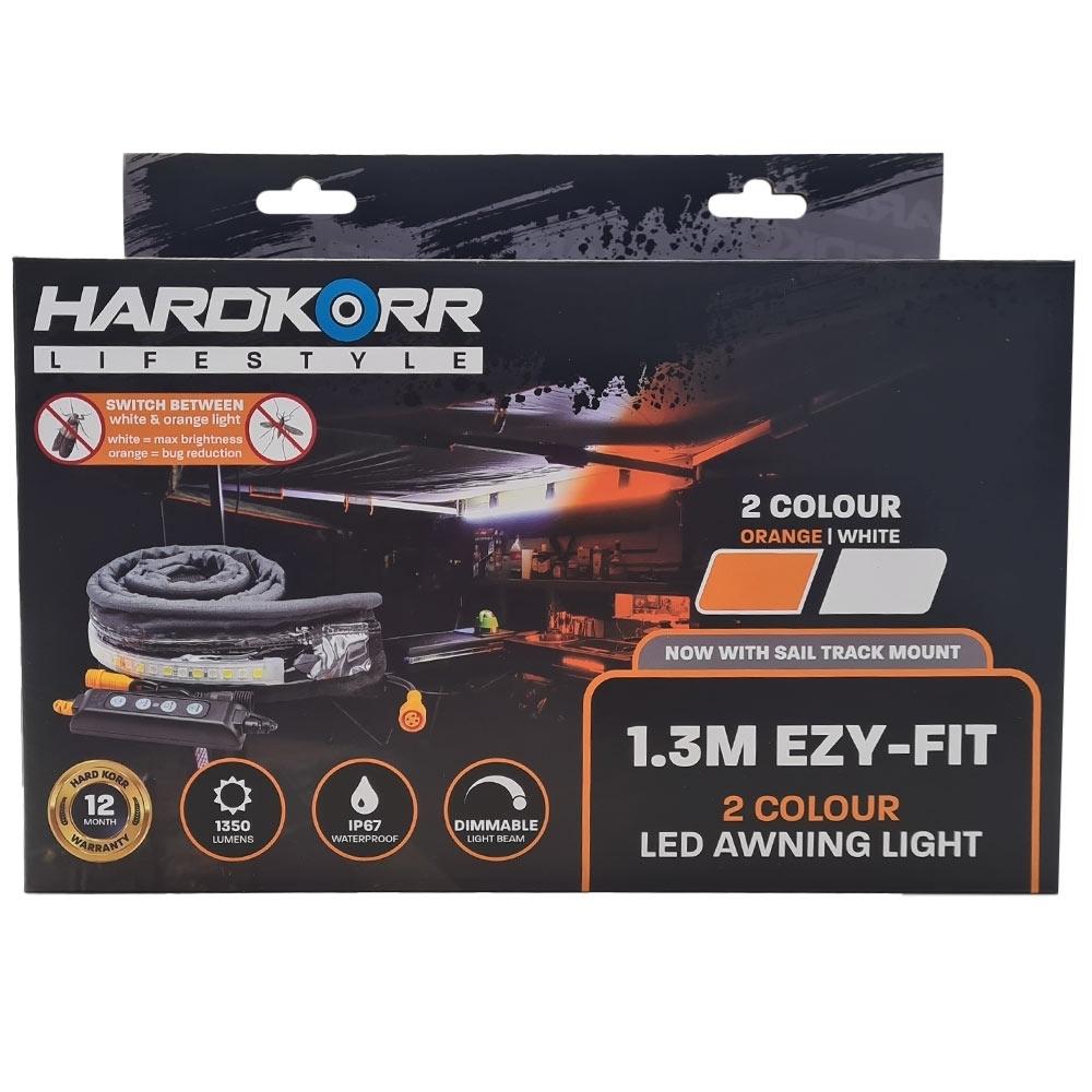Hard Korr Lifestyle 1.3m Orange/White Ezy-Fit Waterproof LED Strip Light - Packaging