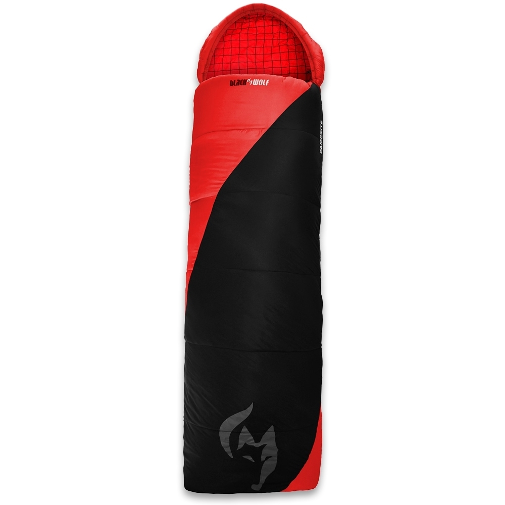 Black Wolf Campsite Sleeping Bag True Red 0°C