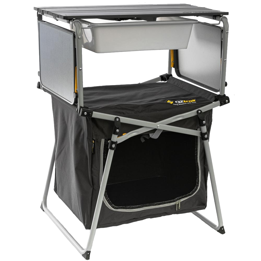 OZtrail Camp Kitchen With Sink - Foldable Side Table