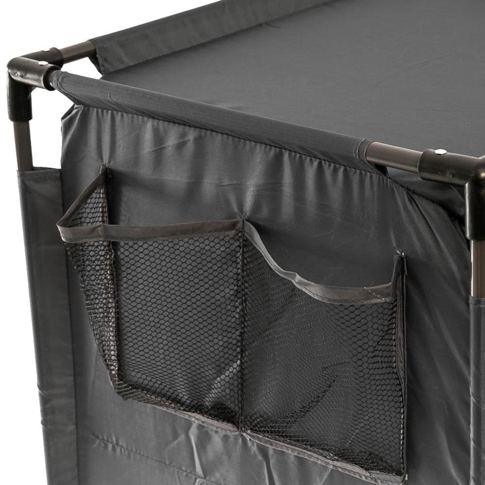 OZtrail 3 Shelf Cupboard - Side mesh pockets for extra storage