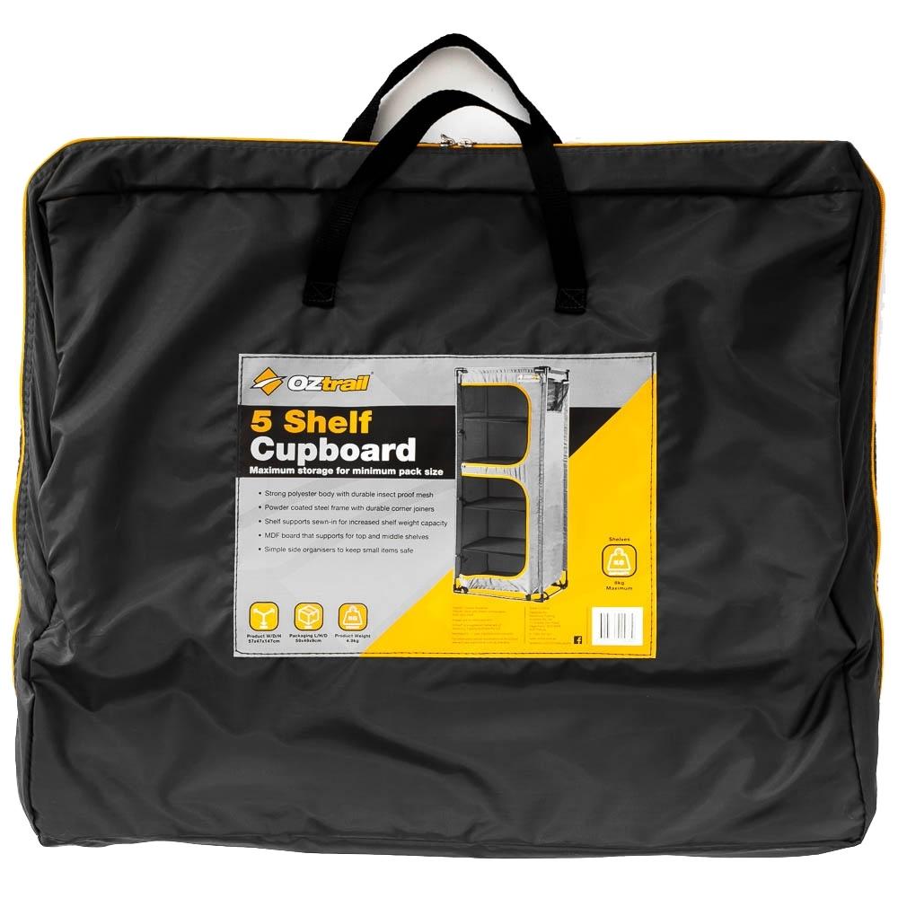 OZtrail 5 Shelf Cupboard - Carry bag