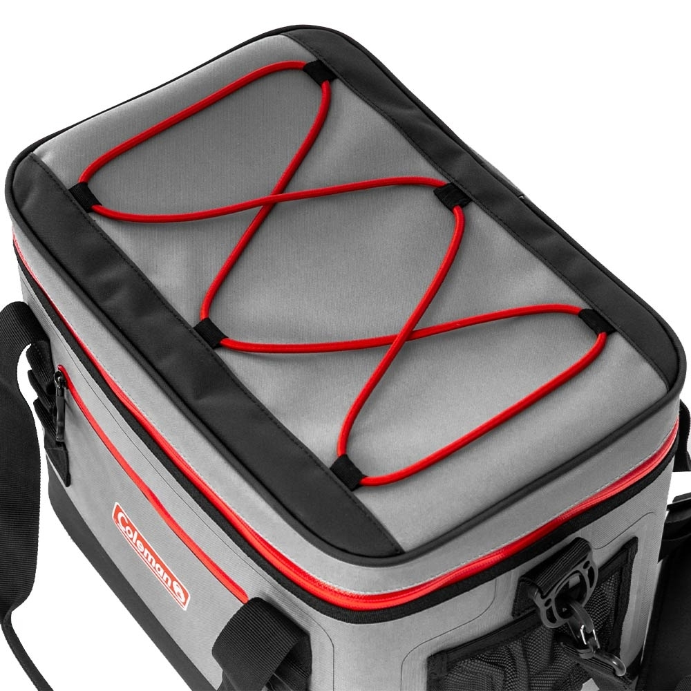 Coleman 30 Can Premium Performance Cooler - Bungee cord for extra storage