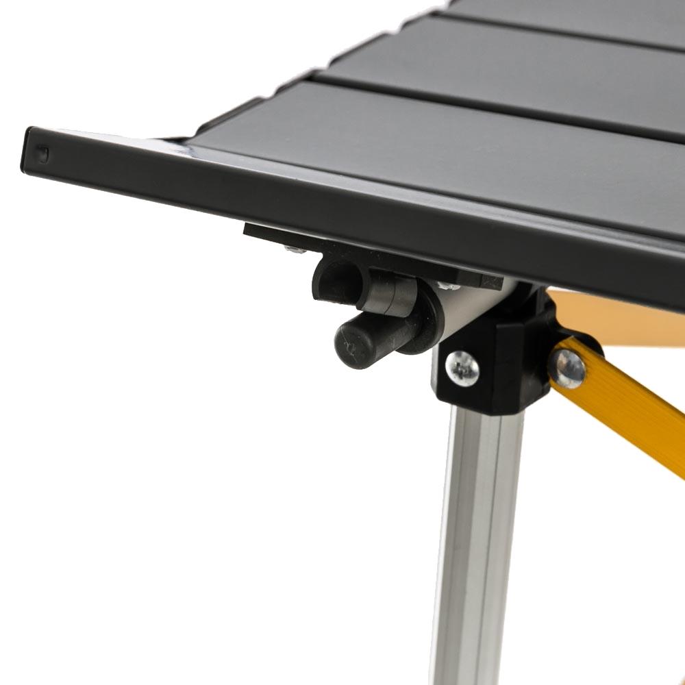 OZtrail Slat Table with Adjustable Legs - Lightweight and heat-resistant Aluminium slat panel top