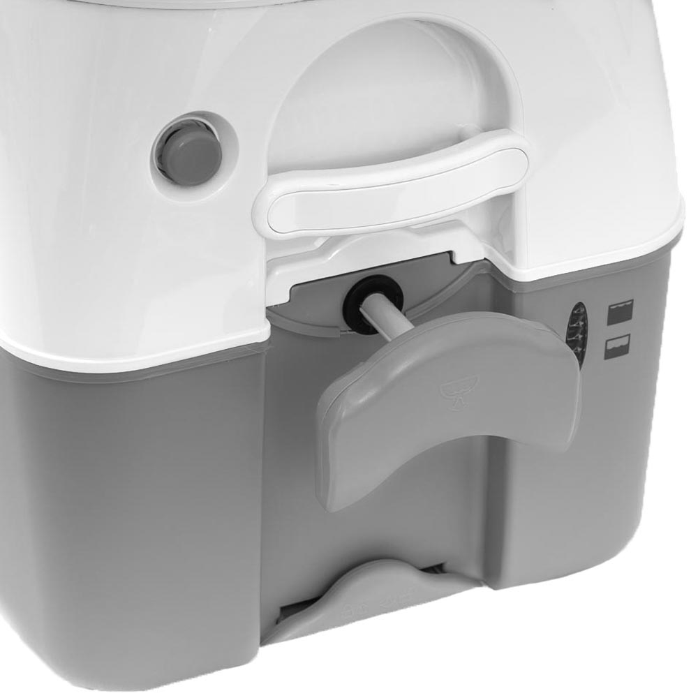 Dometic 976 Large Portable Toilet - 4 stage tank level indicator shows to prevent overfill