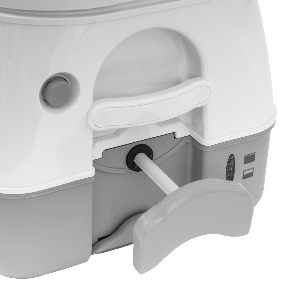 Dometic 972 Portable Toilet - 4 stage tank level indicator shows to prevent overfill