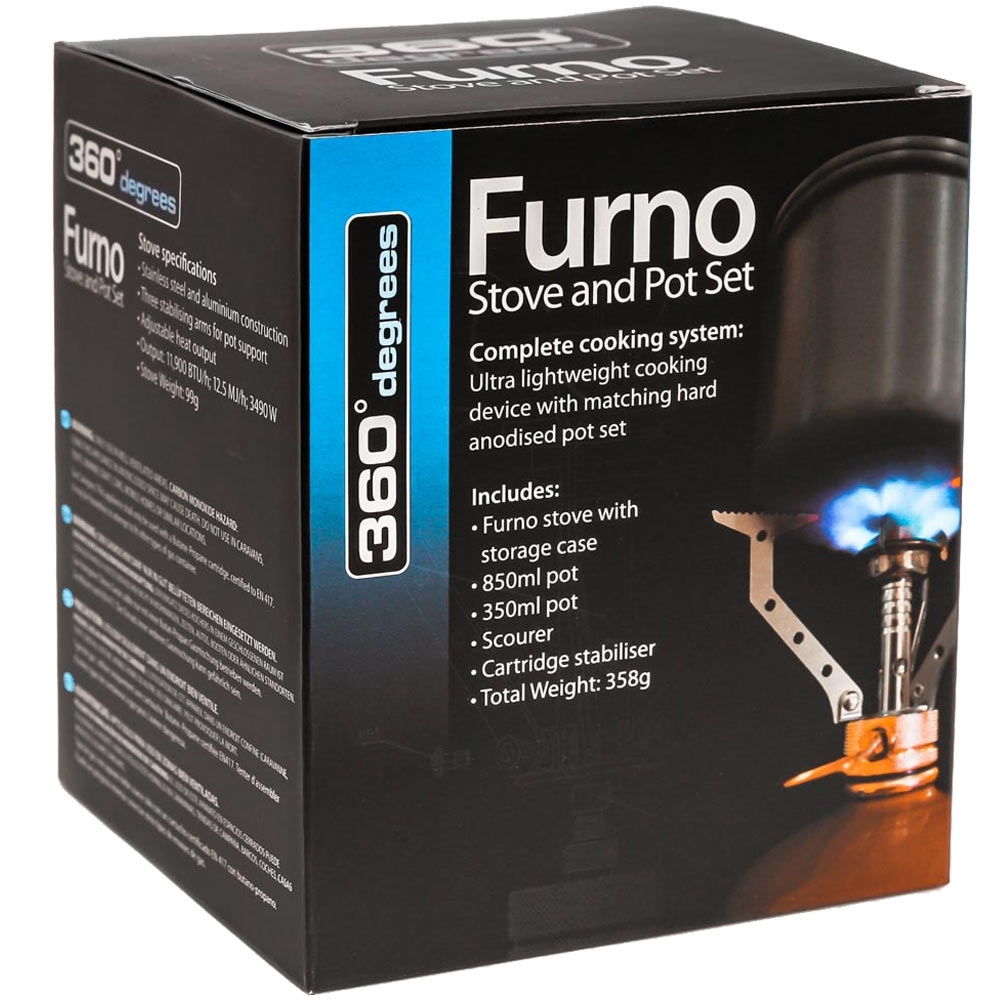 360 Degrees Furno Stove and Pot Set - Packaging