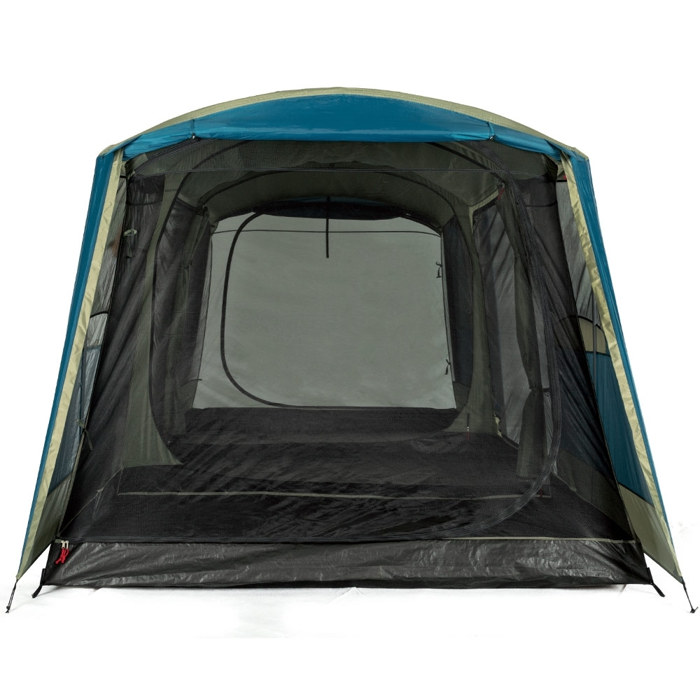OZtrail Bungalow 9 Person Dome Tent - Oversize D doors at both ends of the tent
