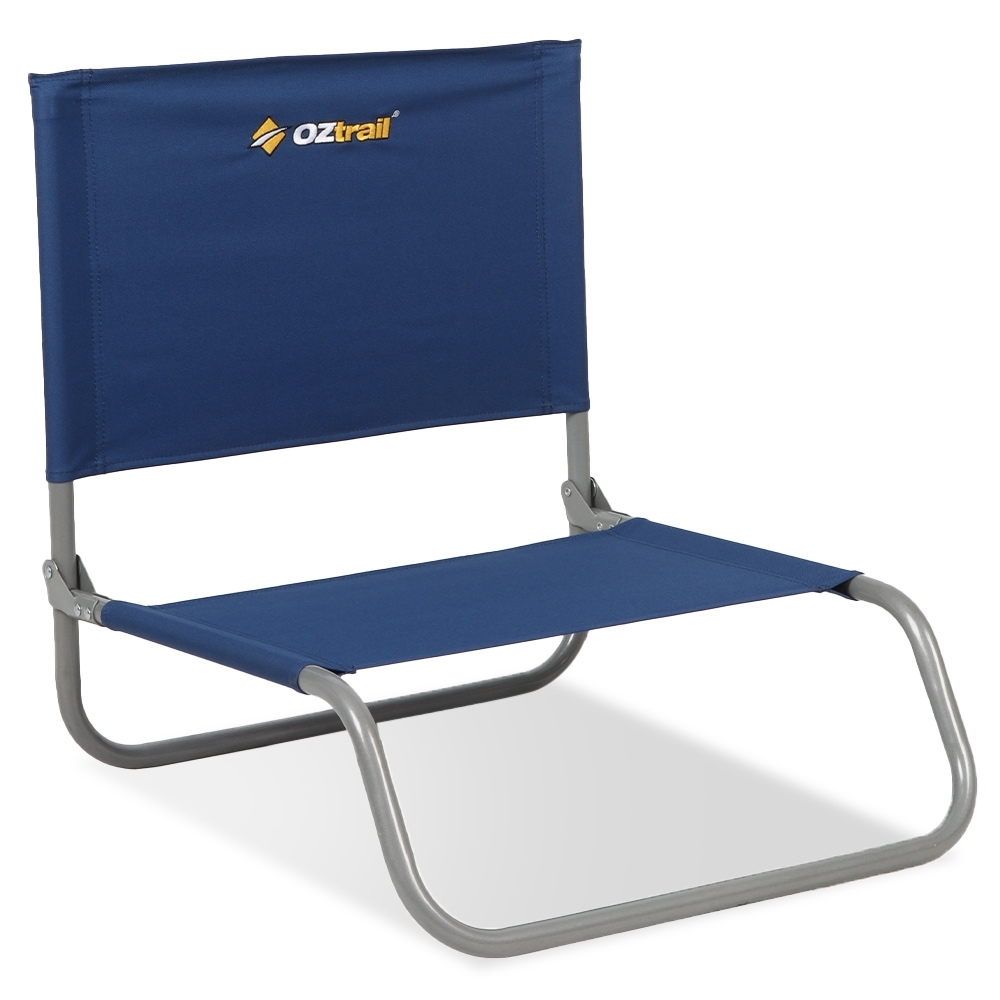 OZtrail Beach Chair No Arms Blue