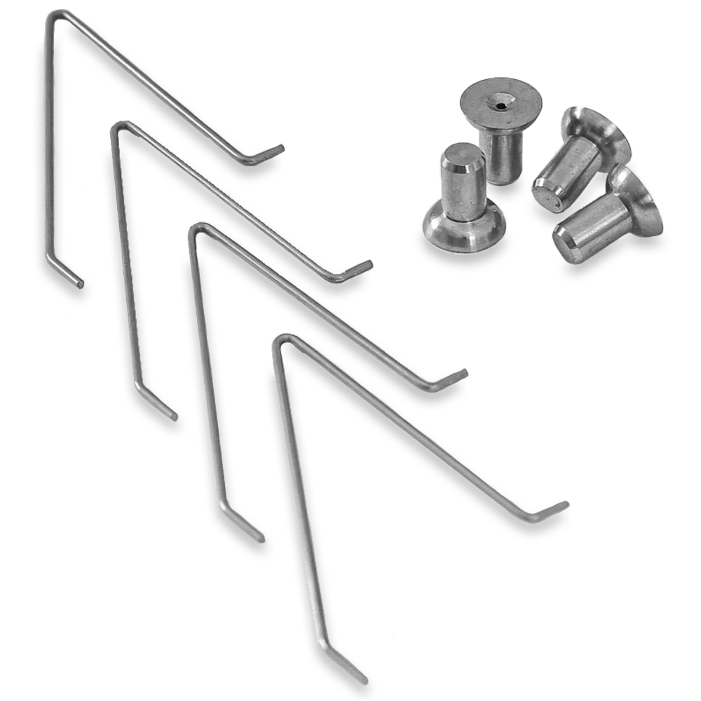 Supa Peg Stainless Steel Wire Spring Button 4 Pack