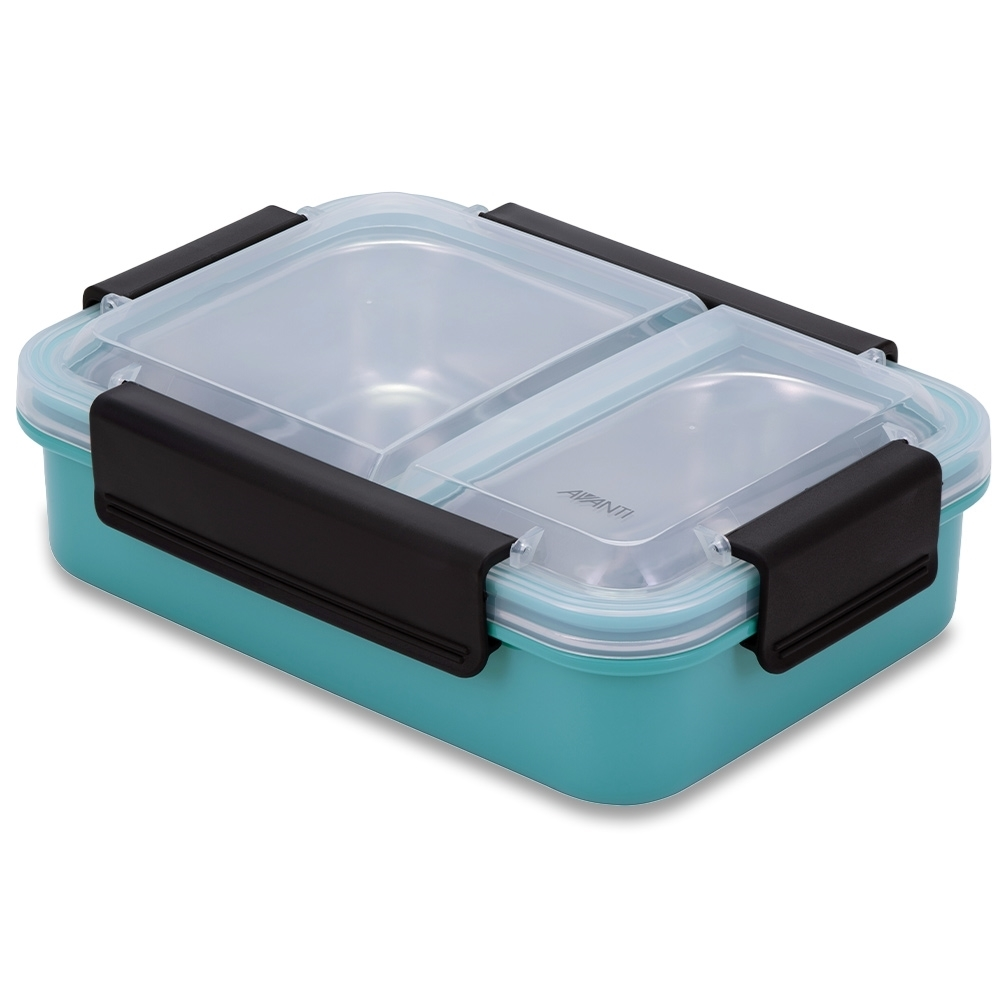 Avanti 2 Compartment Lunch Box - Turquoise