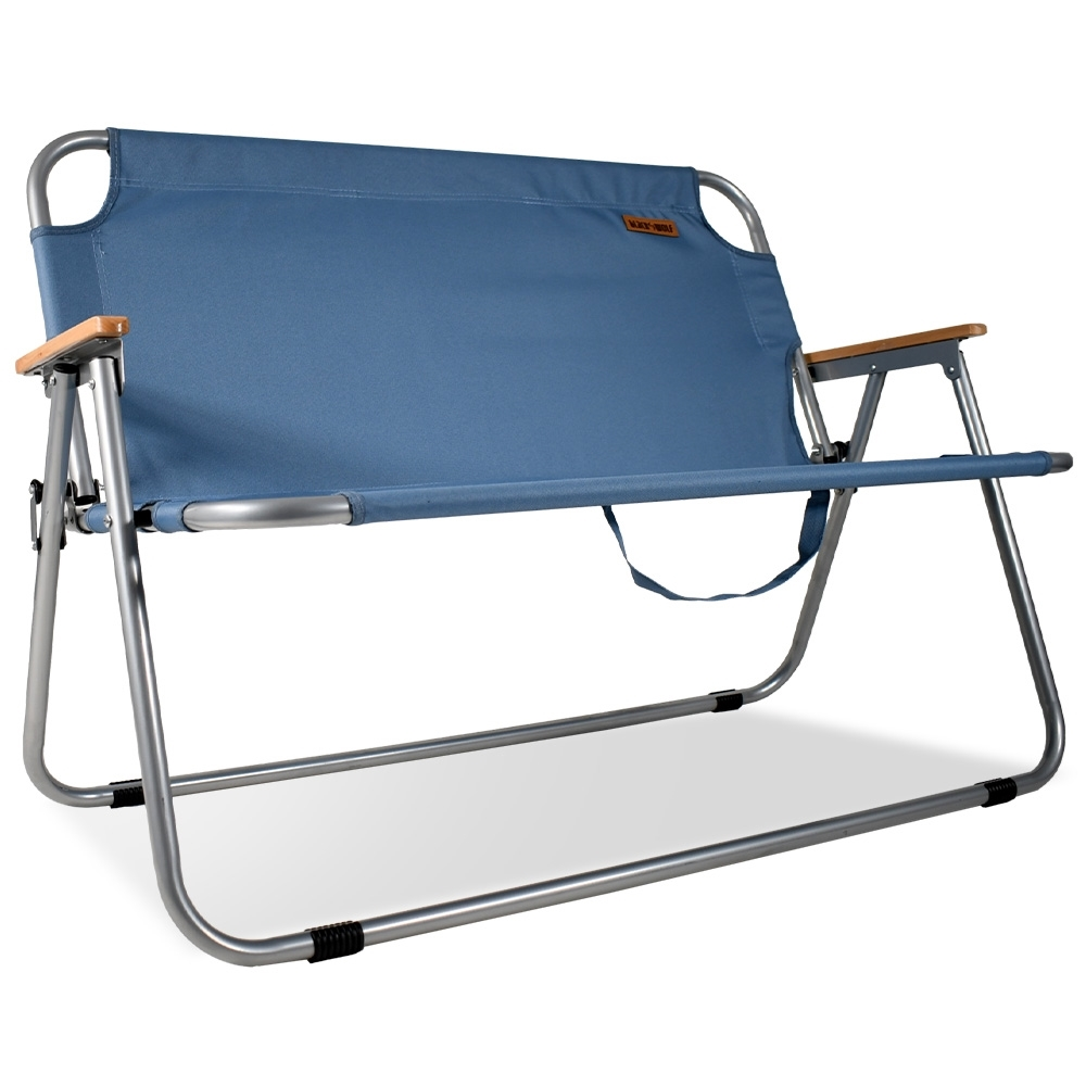 Black Wolf Settlement Double Folding Chair Captains Blue