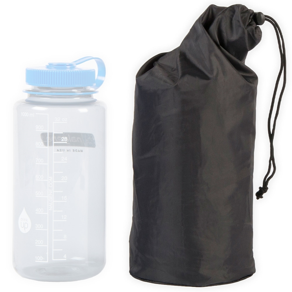Thermarest NeoAir XTherm Insulated Sleeping Pad - Pack size compared to Nalgene 1L bottle