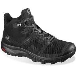 Salomon Outline Prism Mid GTX Wmn's Shoe Black Quiet Shade Quarry