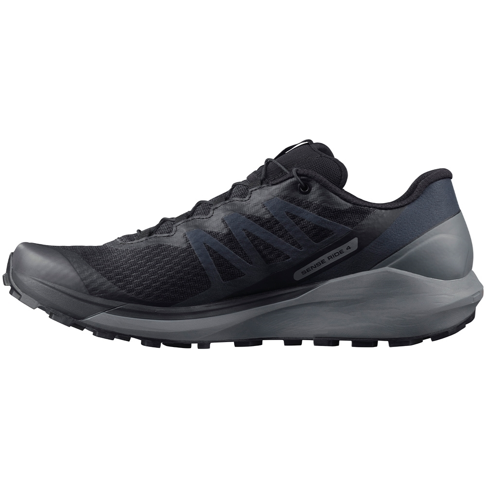 Salomon Sense Ride 4 Men's Shoe - SensiFit™ cradles the foot from the midsole to the lacing system