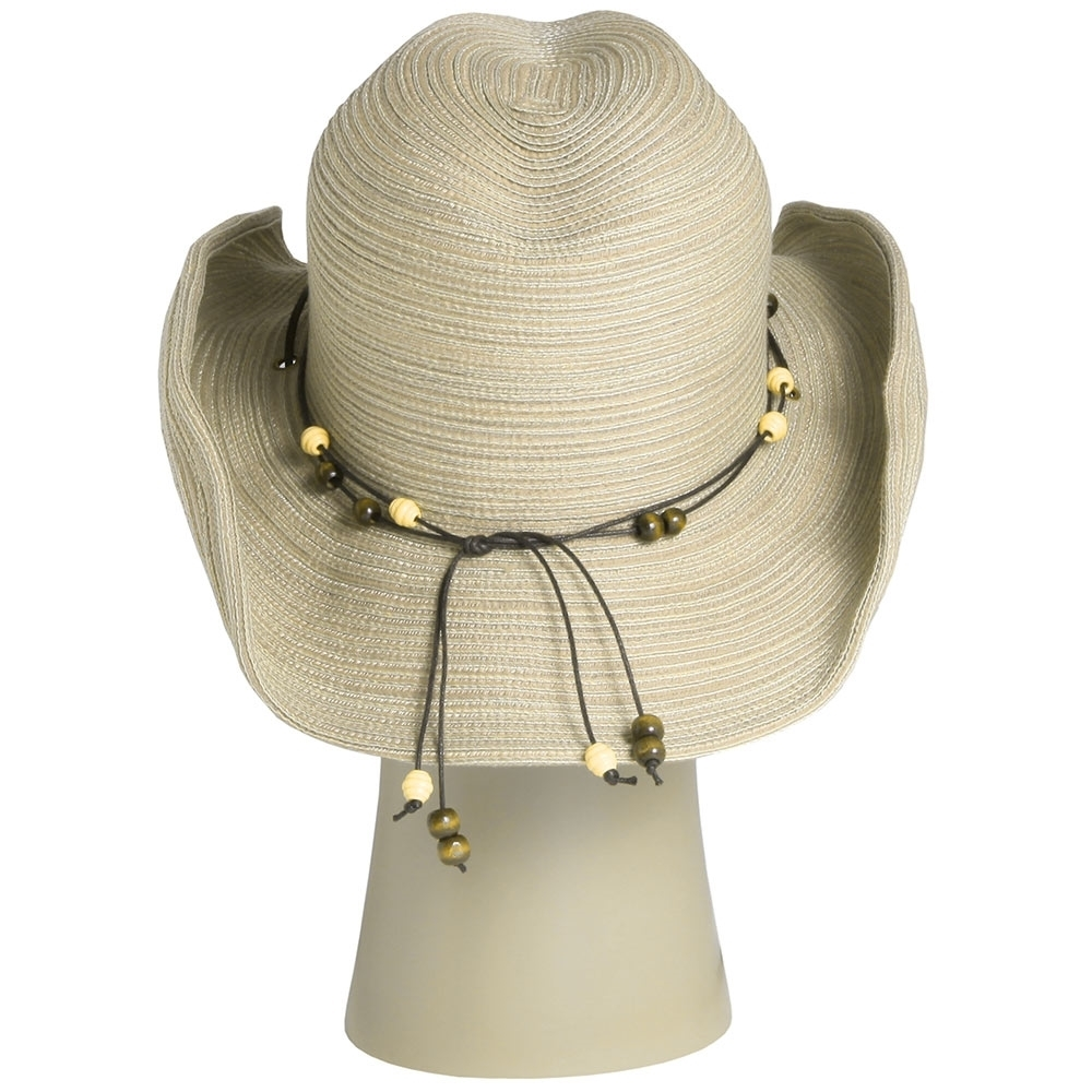 Sunday Afternoons Sunset Hat - Corded leatherette headband with decorative bead accents