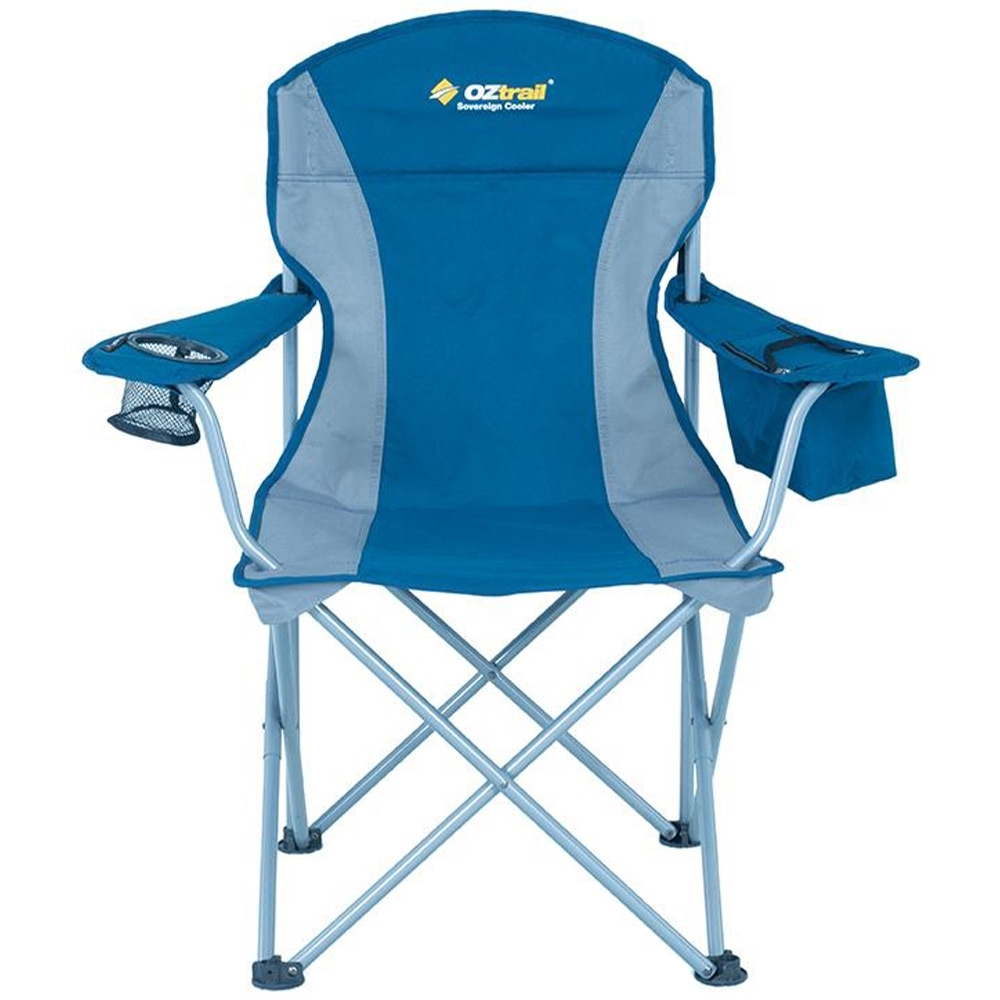 OZtrail Sovereign Cooler Arm Chair - Insulated cooler in arm for keeping drinks cold