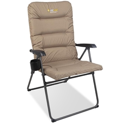 OZtrail Coolum 5 Position Recliner Chair - Features super thick padding for comfort