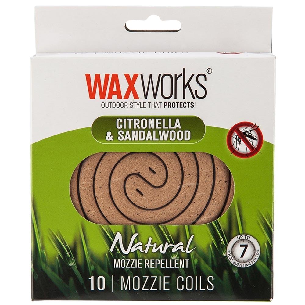 Waxworks Citronella Sandalwood Mozzie Coils 10 Pk