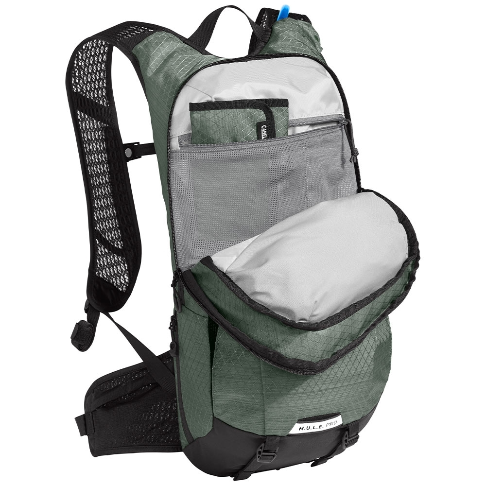 Camelbak M.U.L.E Pro 14 3L Hydration Pack - Integrated Tool Roll: Keep your CO2 cartridges, multi-tool, and tire levers safe and secure