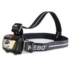 NEBO DUO 250 Lumen Head Lamp - Water and impact-resistant durable housing