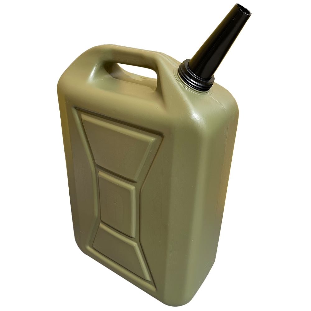 MB Agencies Plastic Water Jerry Can with Pourer 20L Olive Green