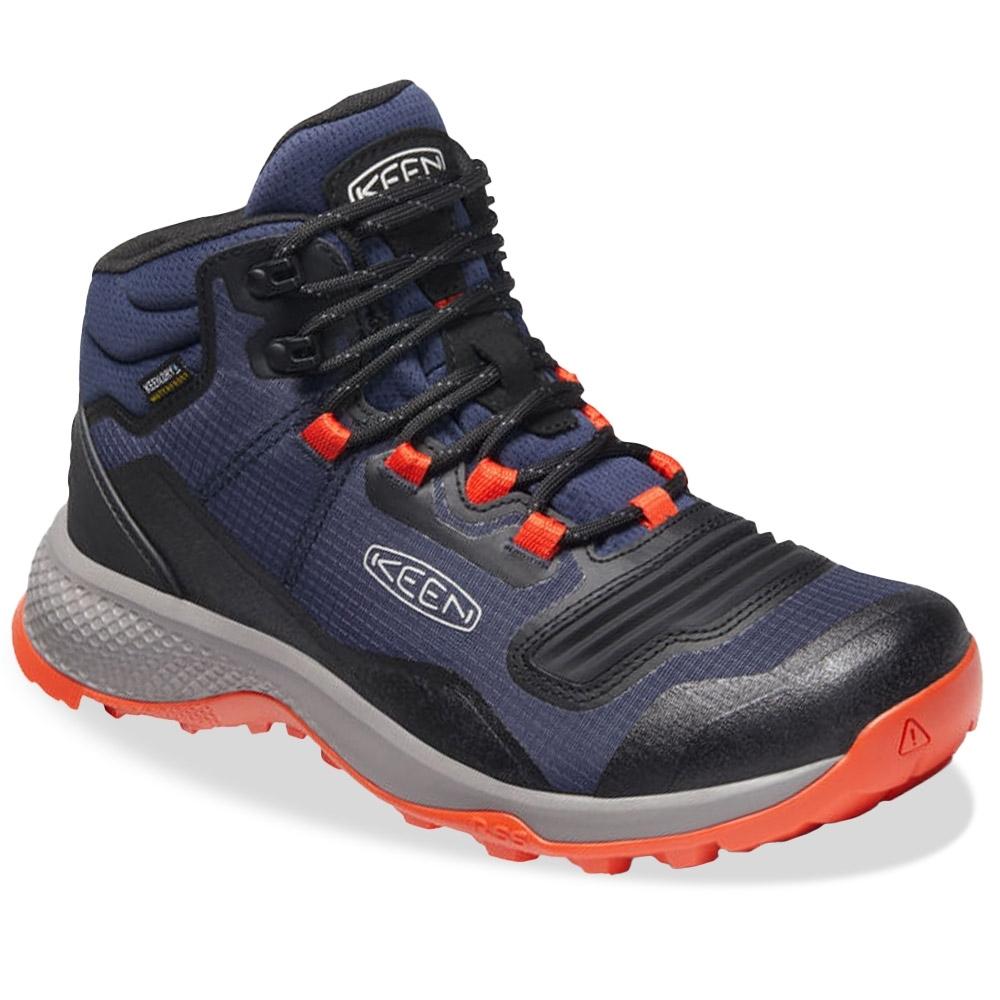 Keen Tempo Flex Mid WP Men's Boot Black Iris Orange