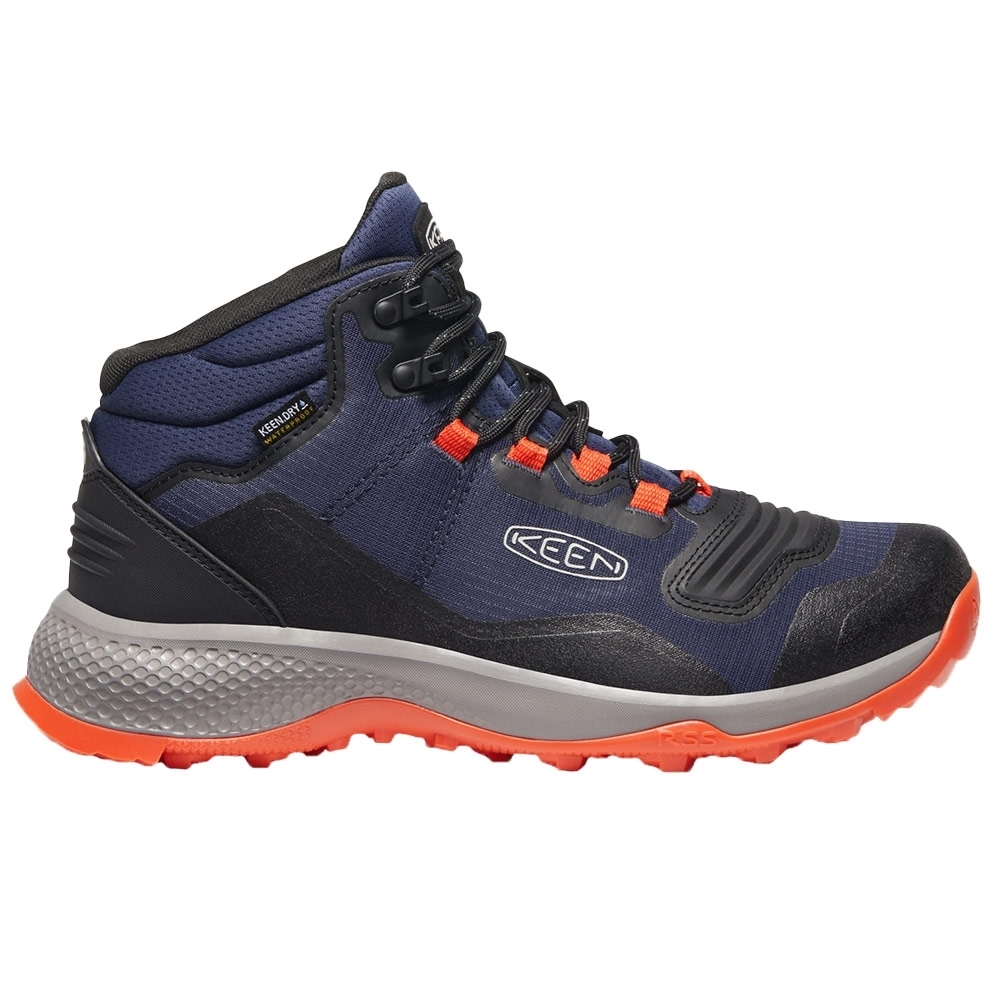Keen Tempo Flex Mid WP Men's Boot - Performance ripstop mesh upper with TPU overlays for durable, lightweight support