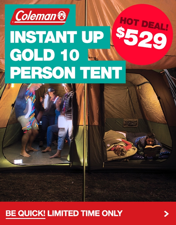 The super popular Coleman Instant Up Gold 10P Tent has dropped to $529! Limited time only.
