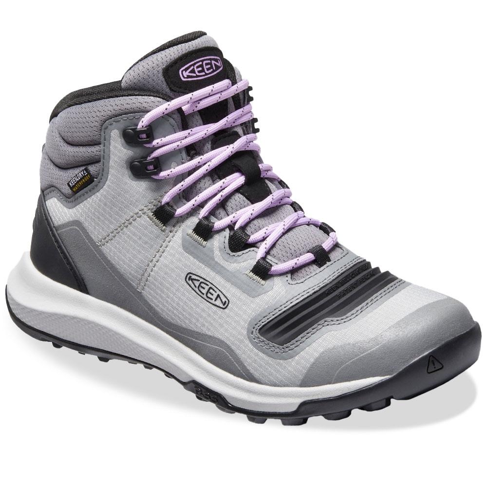 Keen Tempo Flex Mid WP Wmn's Boot Steel Grey African Violet