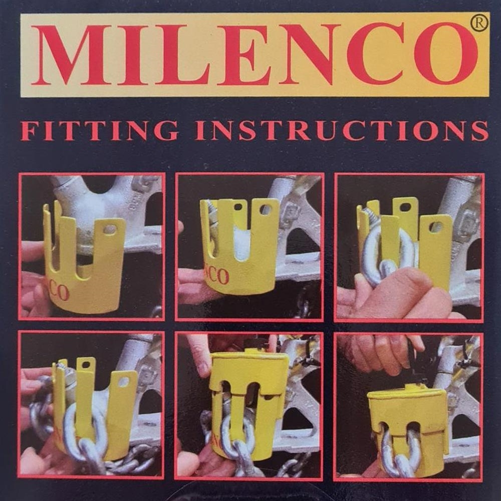 Milenco Heavy Duty Hitchlock with Chain Lock - Instructions