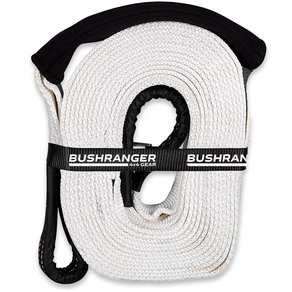 Bushranger 4x4 Gear Snatch Strap 8,000 Kg - Manufactured from high-quality nylon material & reinforced stitching