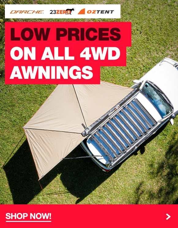 Low prices on all 4WD Awnings from Darche, 23Zero & Oztent!