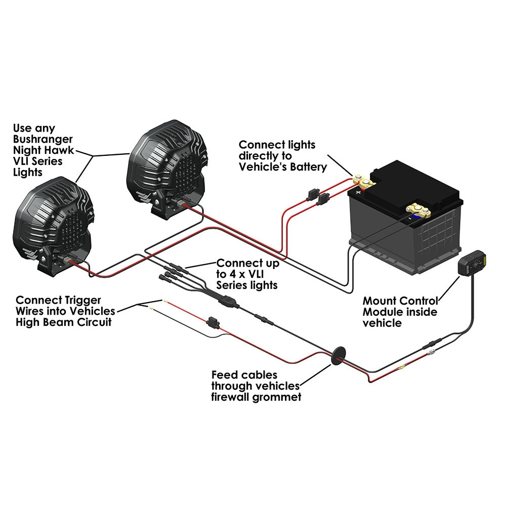 Bushranger 4x4 Gear Night Hawk VLI Series Wiring System - Wiring Diagram