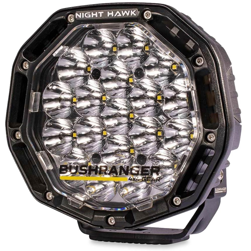 """Bushranger 4x4 Gear Night Hawk 7"""" VLI Series LED Driving Light - Engineered tough to withstand the rugged outdoor terrain"""