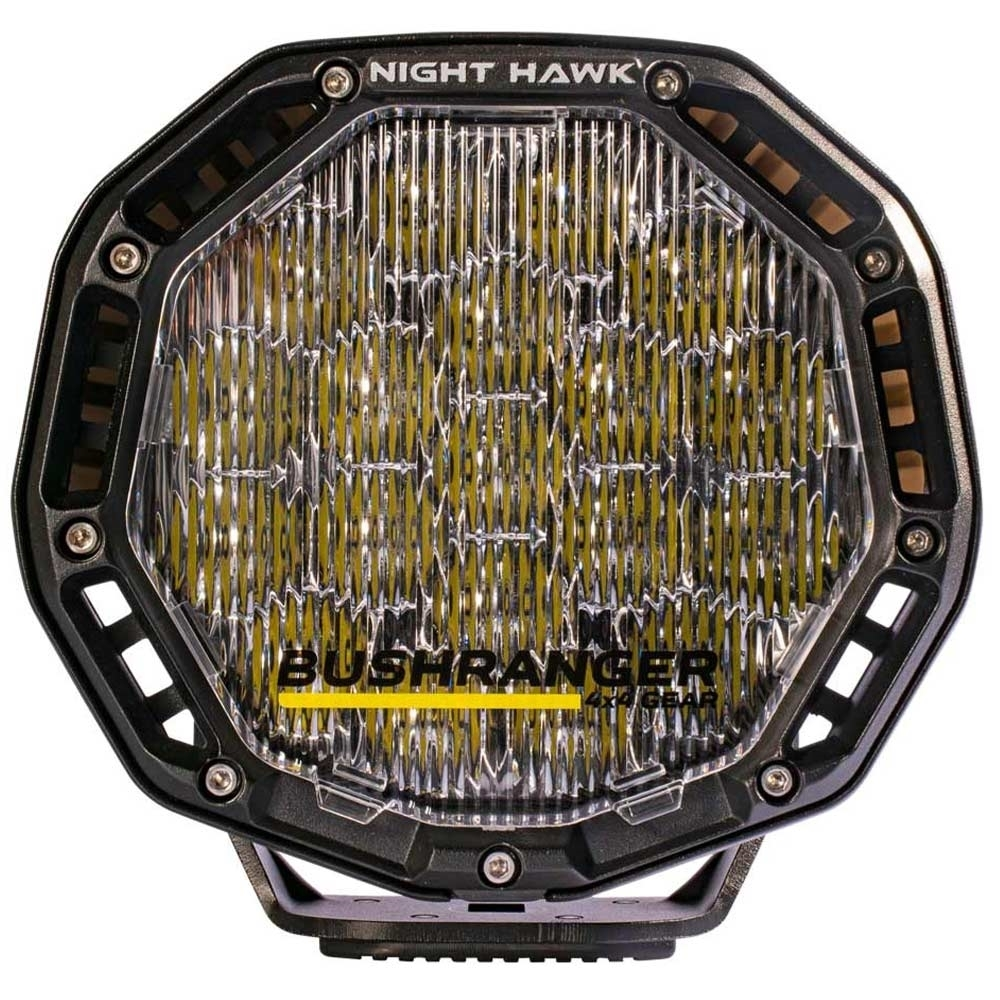 """Bushranger 4x4 Gear Night Hawk 7"""" VLI Series LED Driving Light - Clip on/clip off protective covers allow for quick changes between beam patterns"""