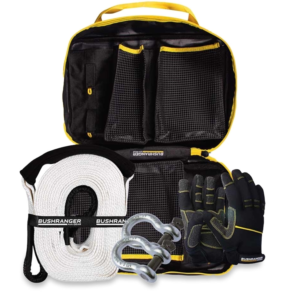 Bushranger 4x4 Gear Snatch Kit - Standard - Essentials kit in a compact durable bag